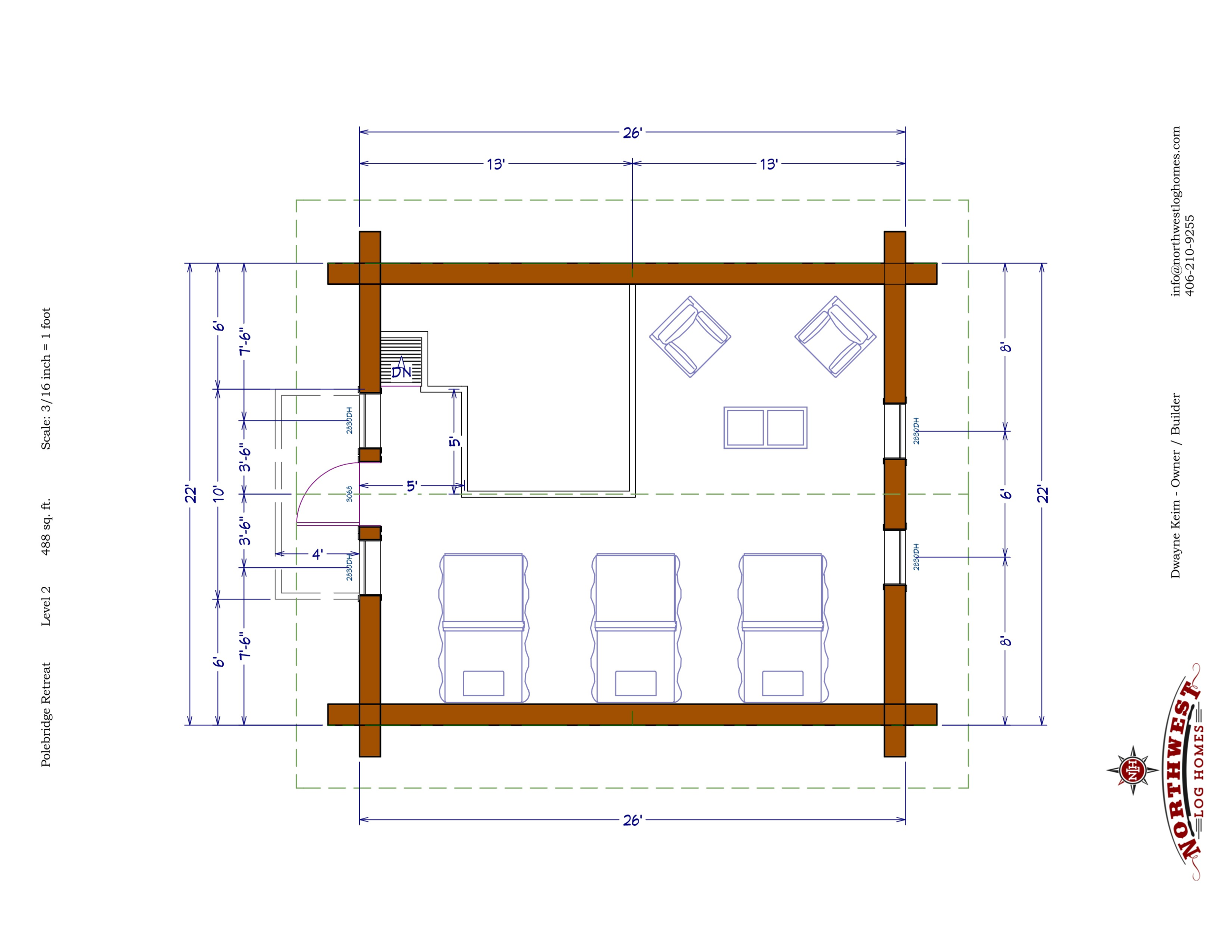 Loft - 488 sq. ft.