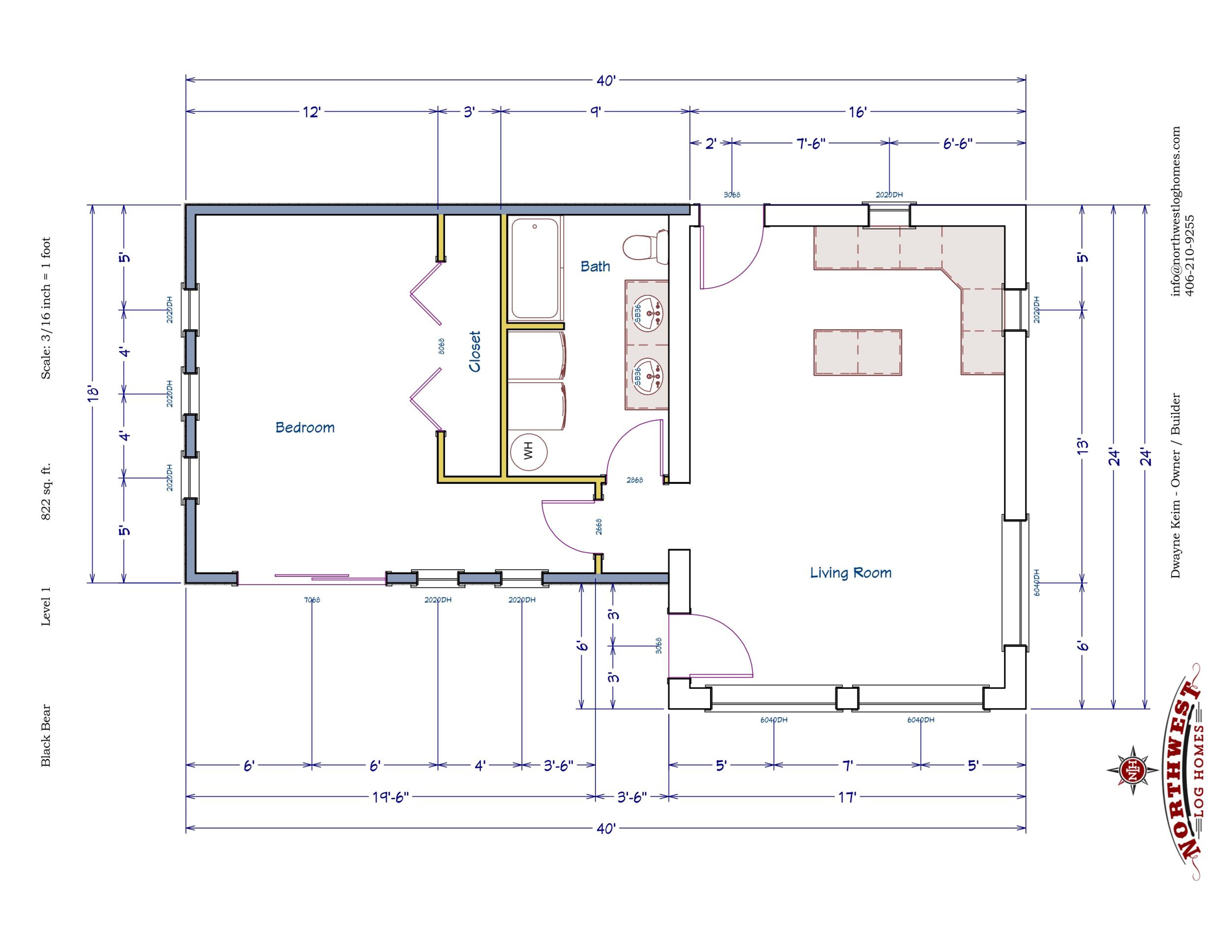 Main Floor - 822 sq. ft.