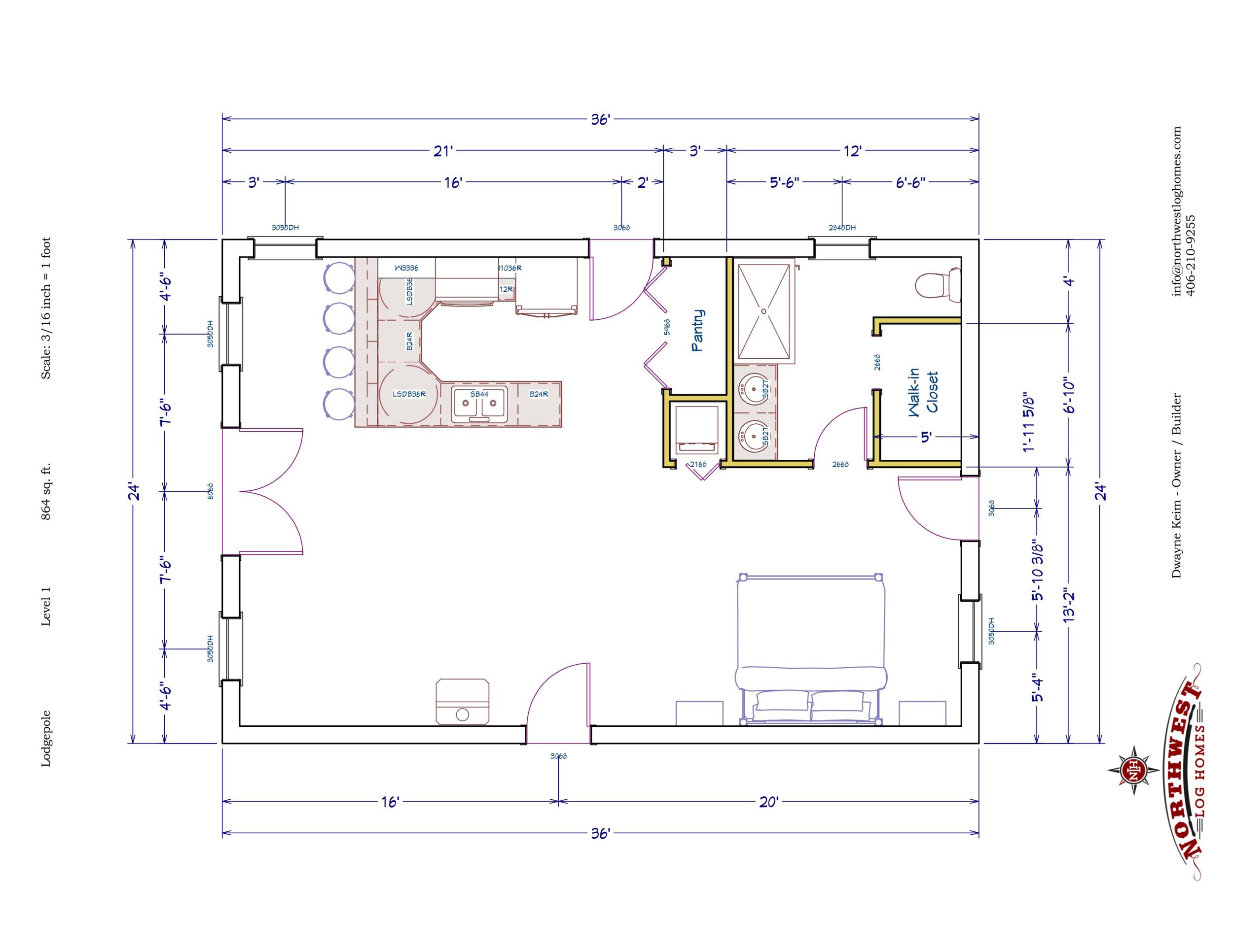 Main Floor - 864 sq. ft.