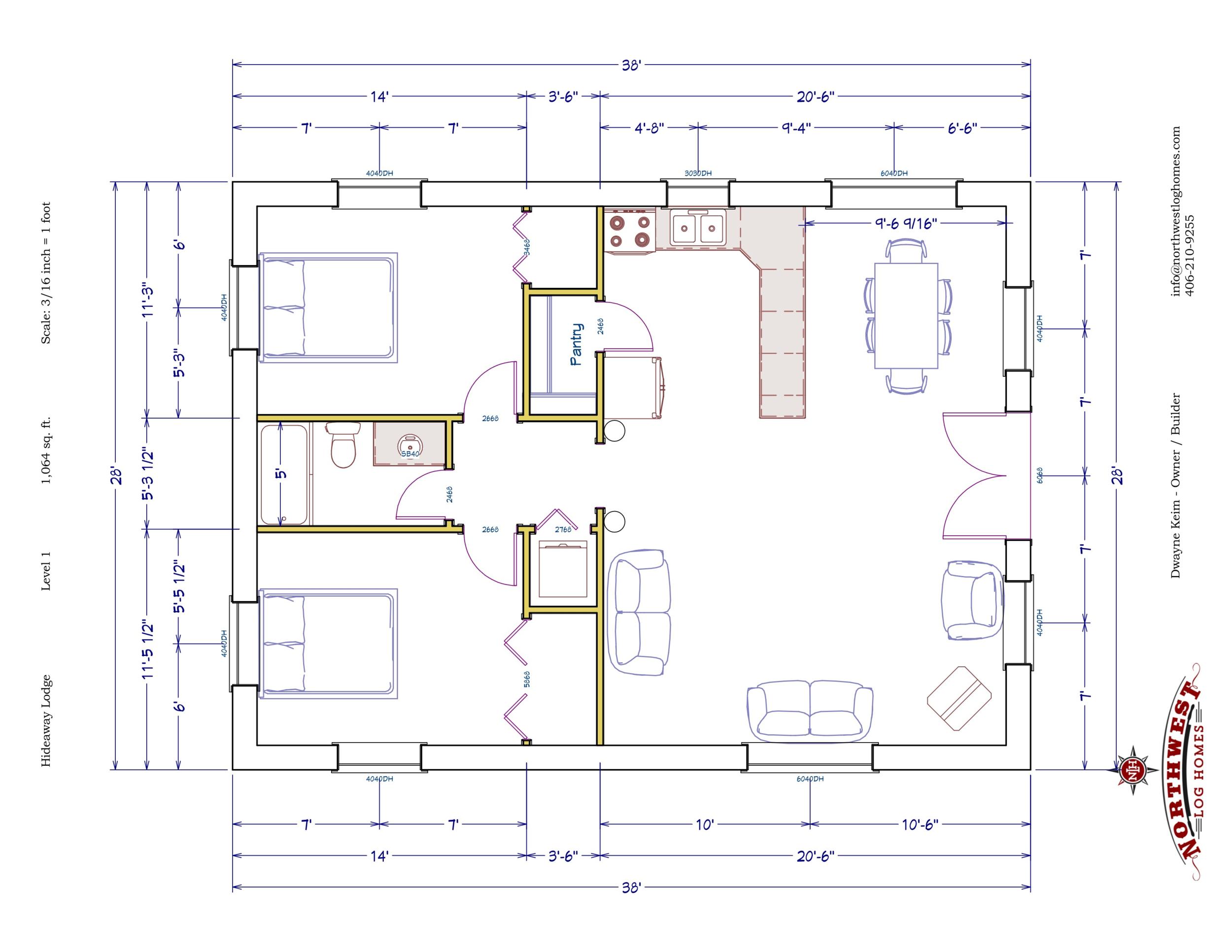 Main Floor - 1,064 sq. ft.