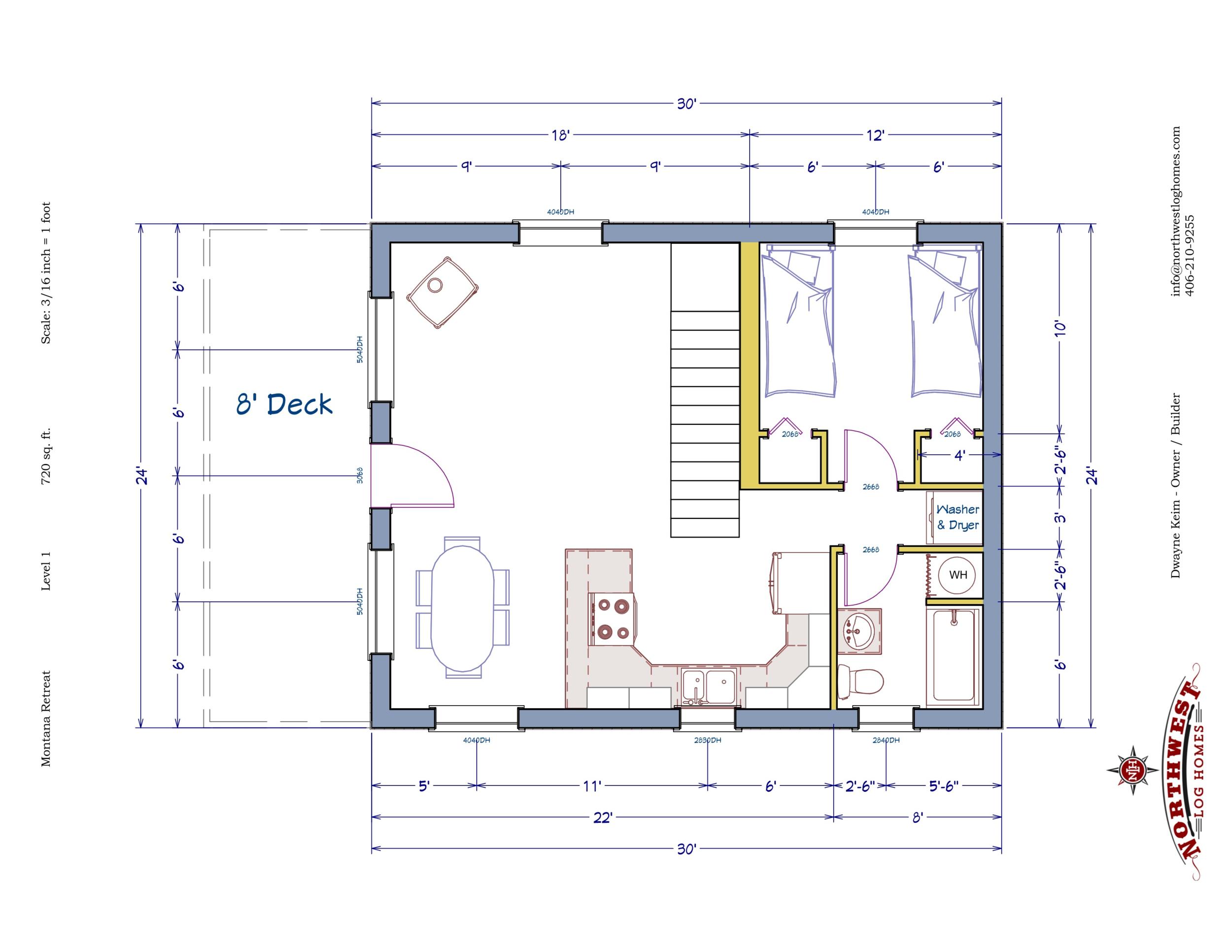 Main Floor - 720 sq. ft.