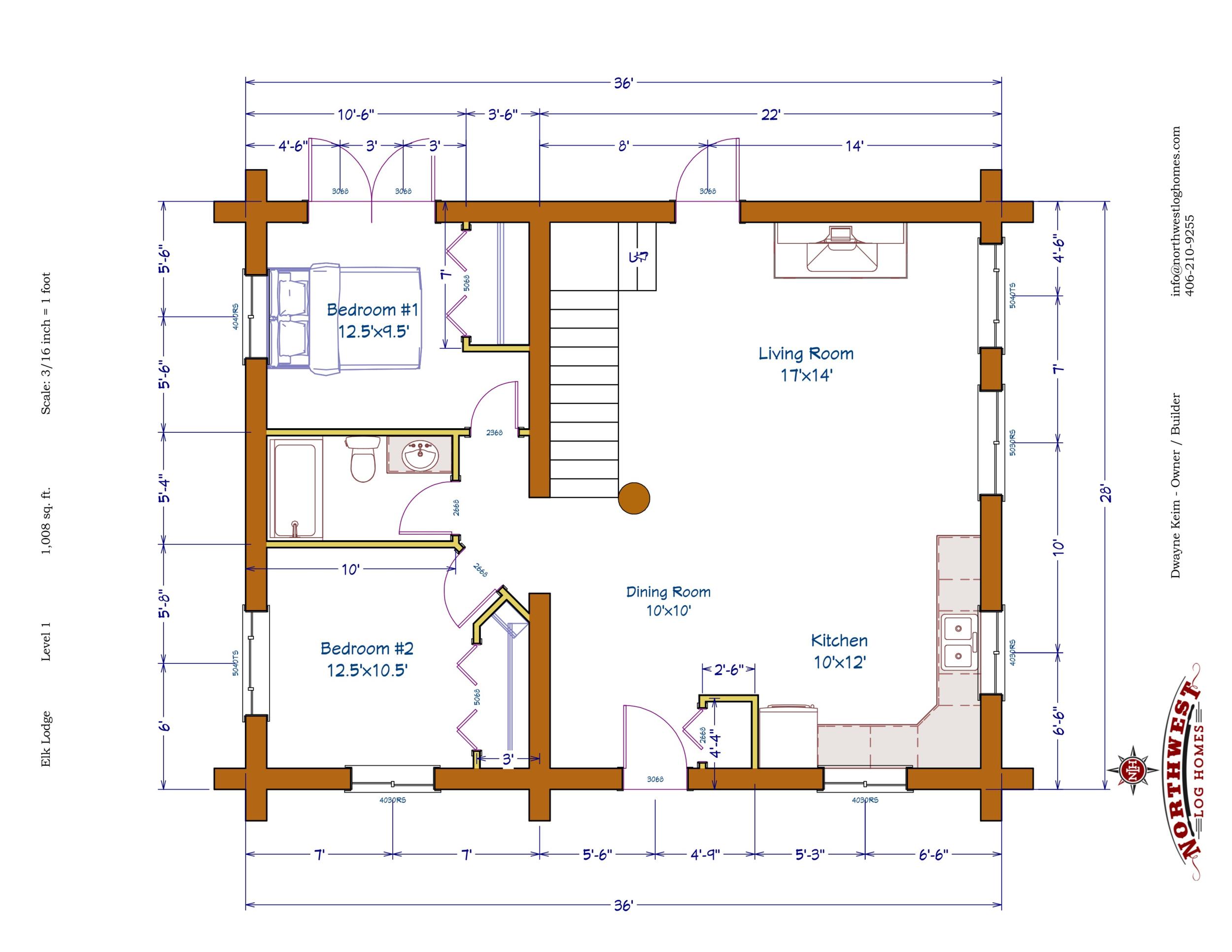 Main Floor - 1,008 sq. ft.