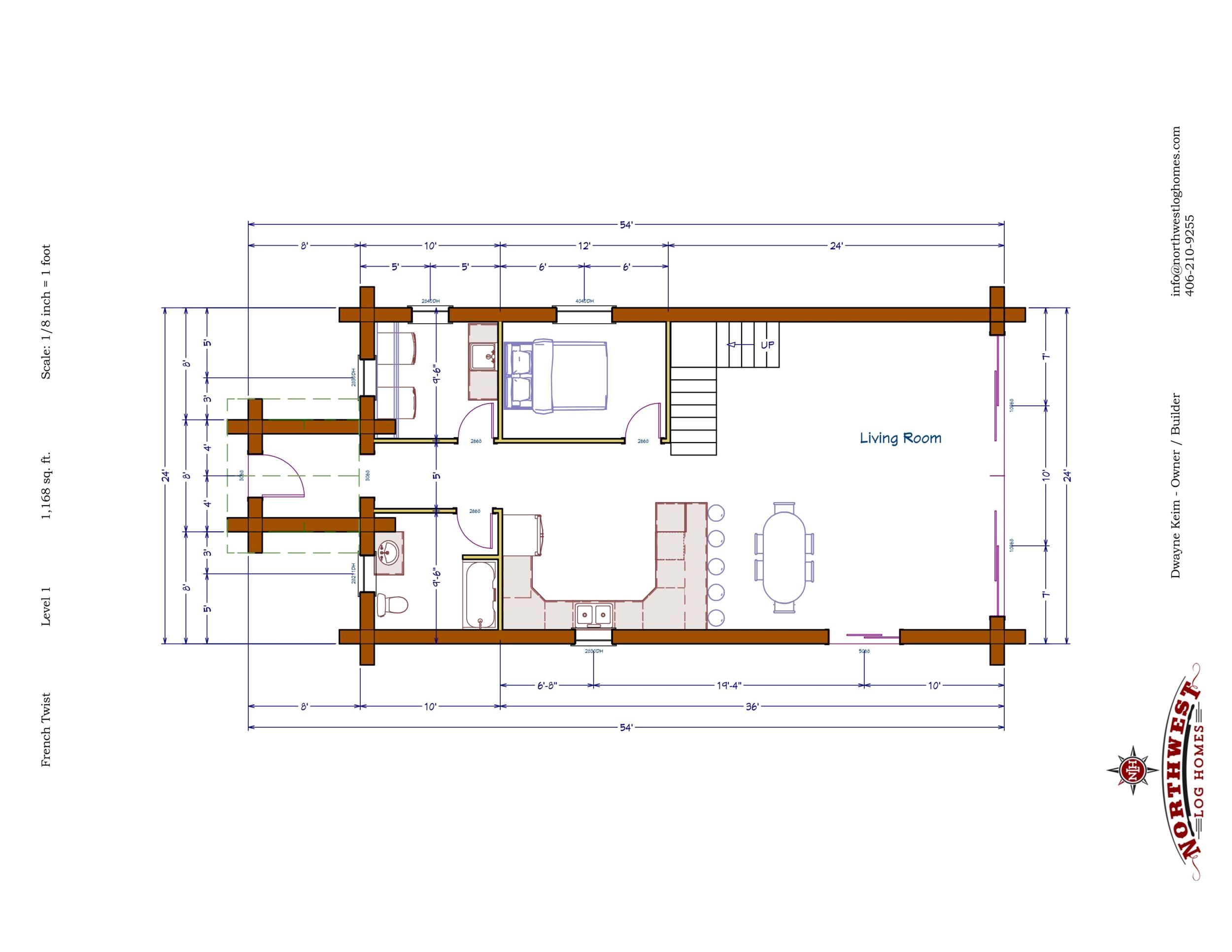 Main Floor - 1,168 sq. ft.