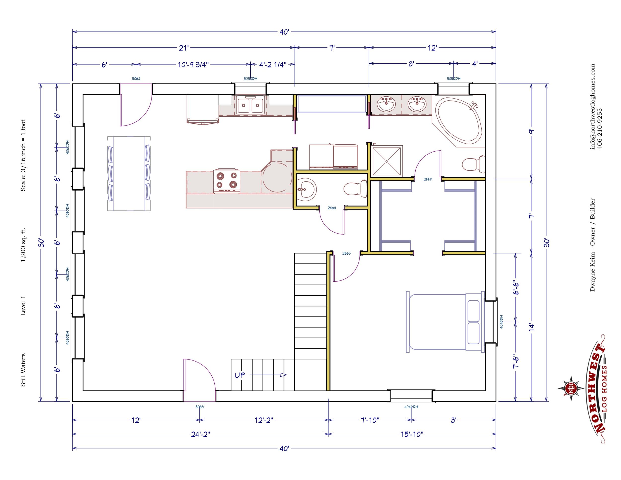 Main Floor - 1,200 sq. ft.