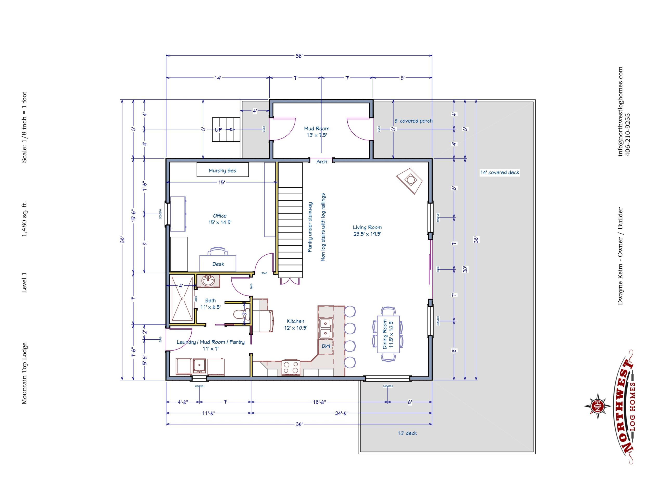 Main Floor - 1,480 sq. ft.