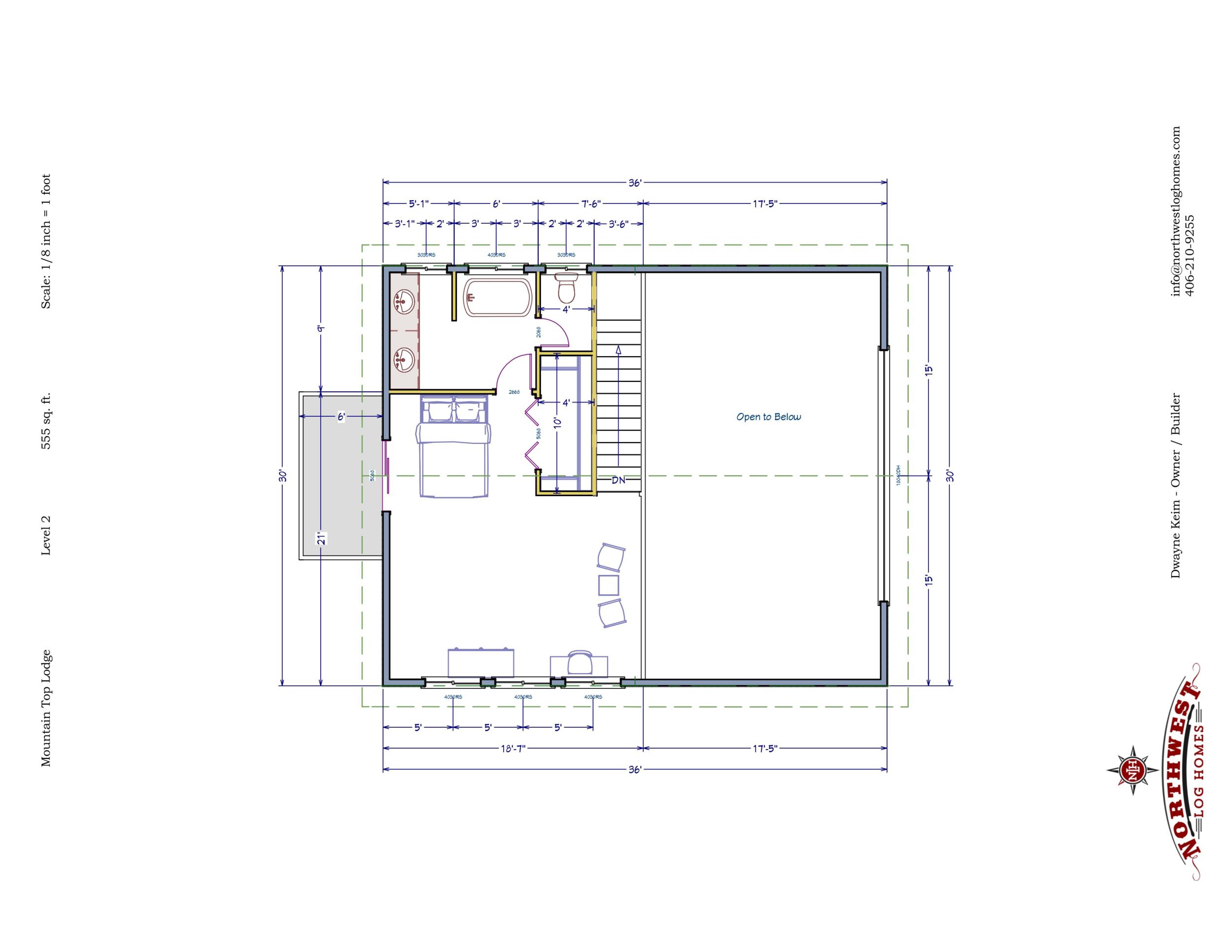 Loft - 555 sq. ft.