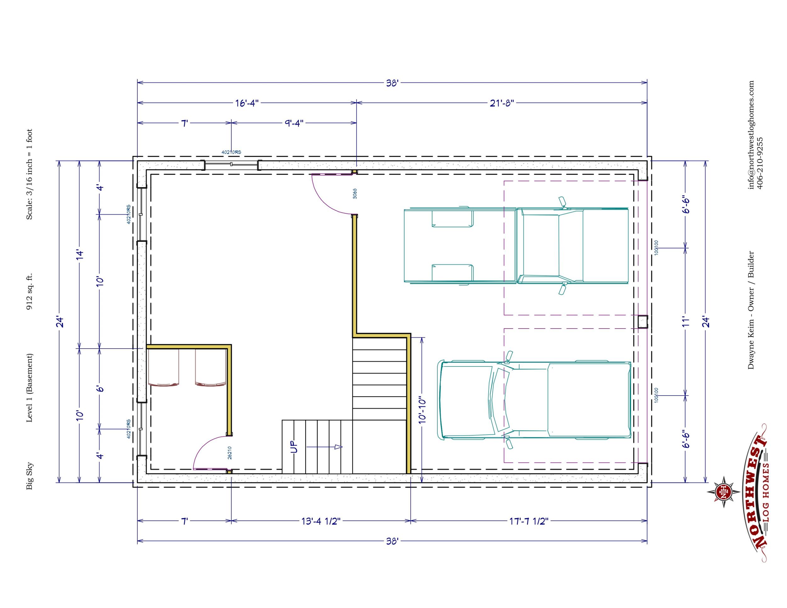 Basement - 912 sq. ft.