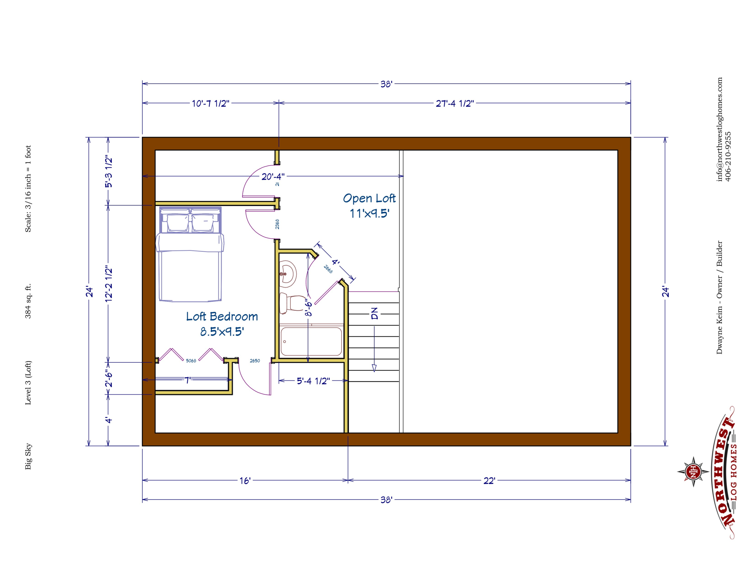 Loft - 384 sq. ft.
