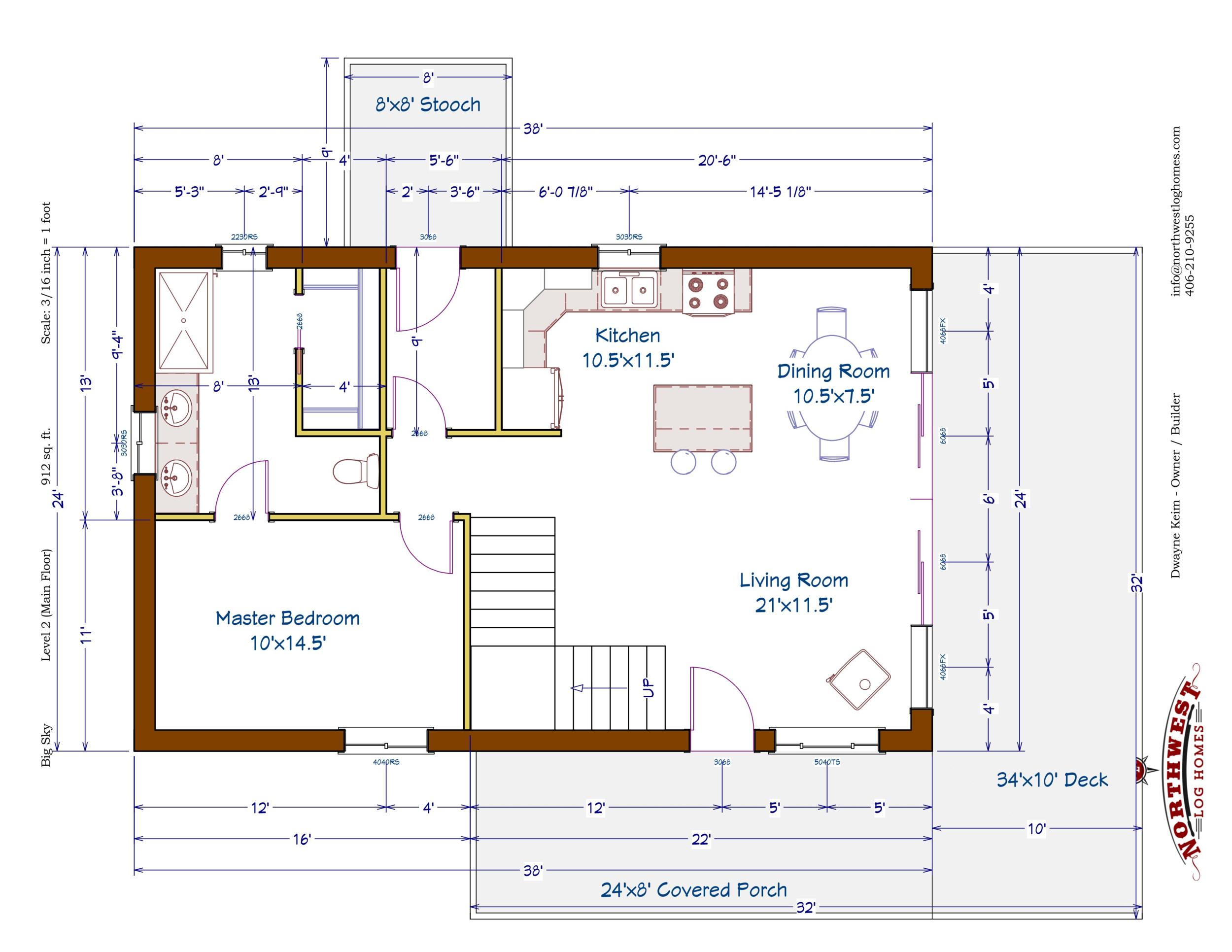Main Floor - 912 sq. ft.