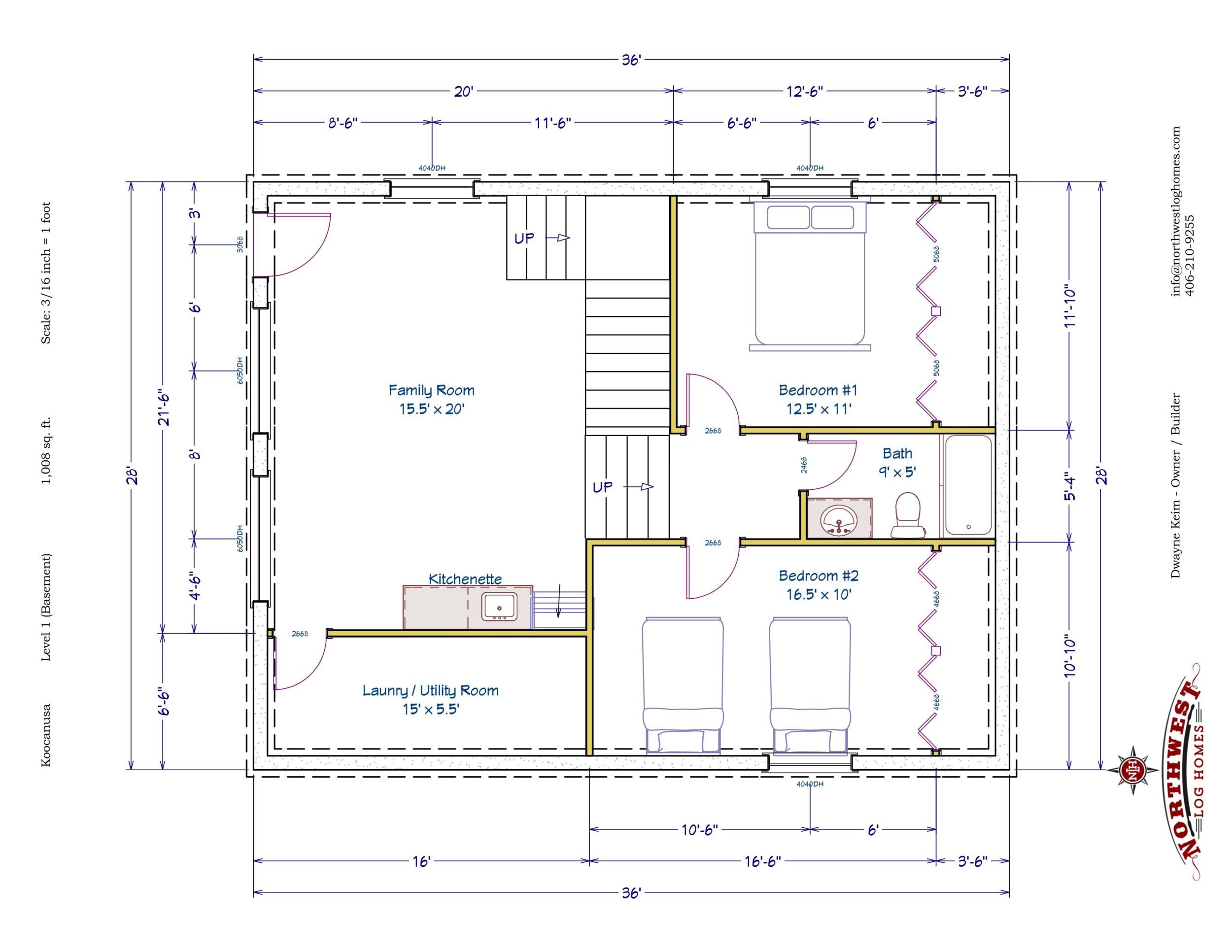 Basement - 1,008 sq. ft.