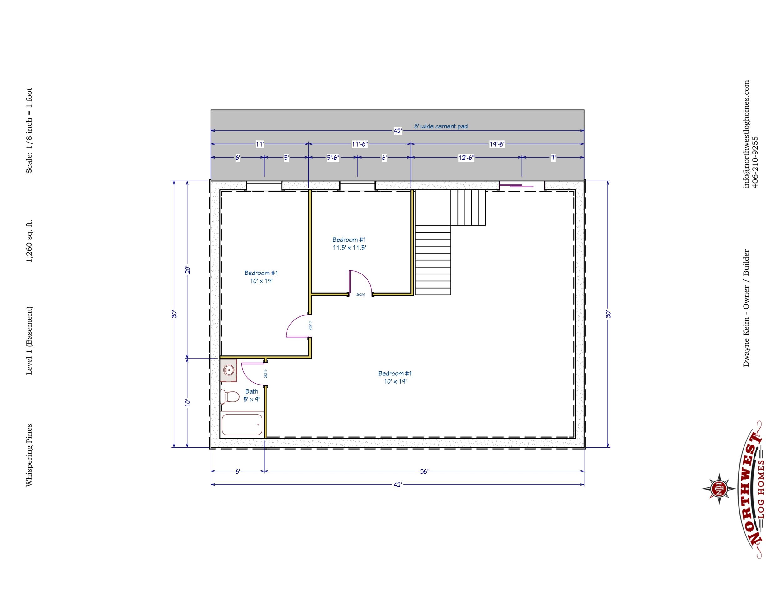 Basement - 1,260 sq. ft.