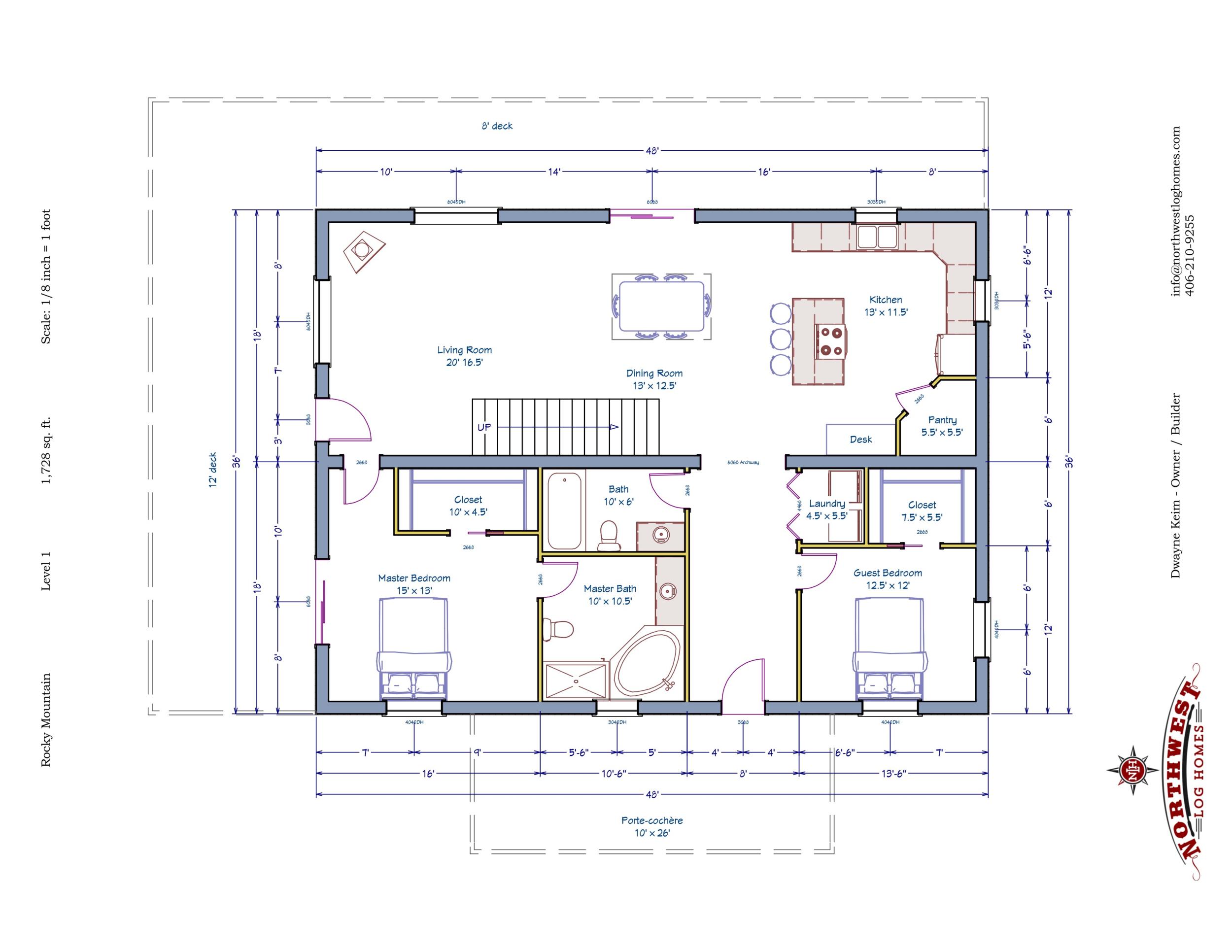 Main Floor - 1,728 sq. ft.