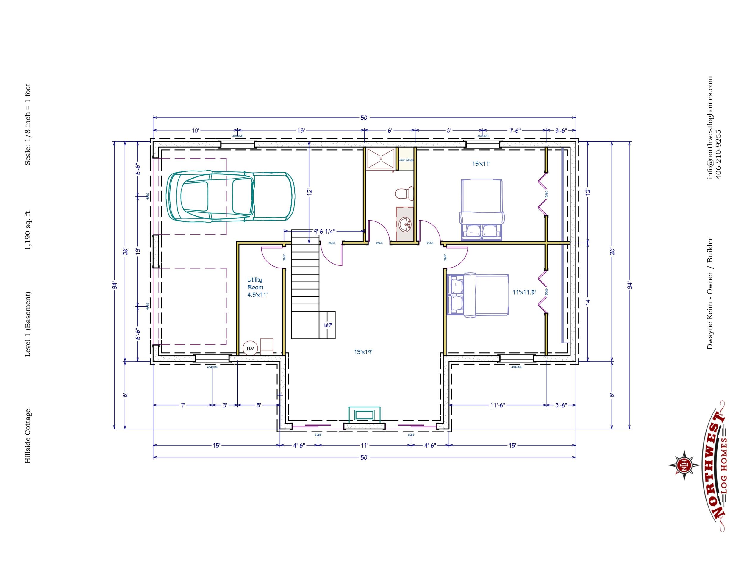 Basement - 1,190 sq. ft.