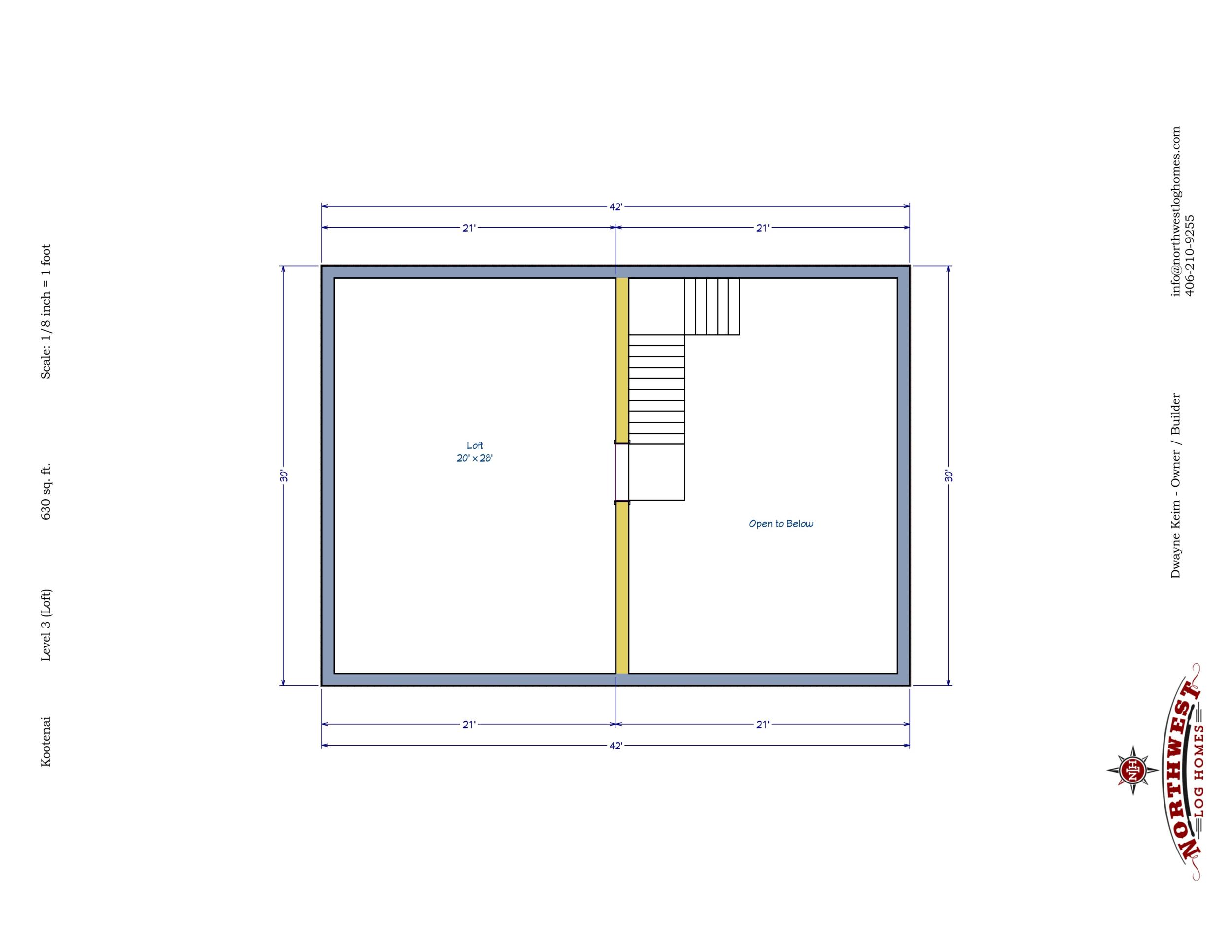 Loft - 630 sq. ft.