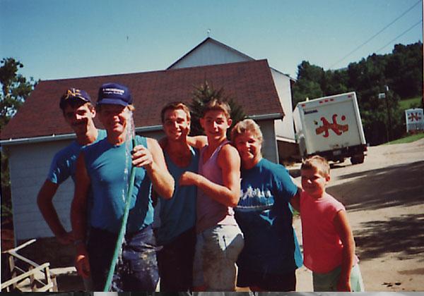 Early 90's, the crew having some fun.