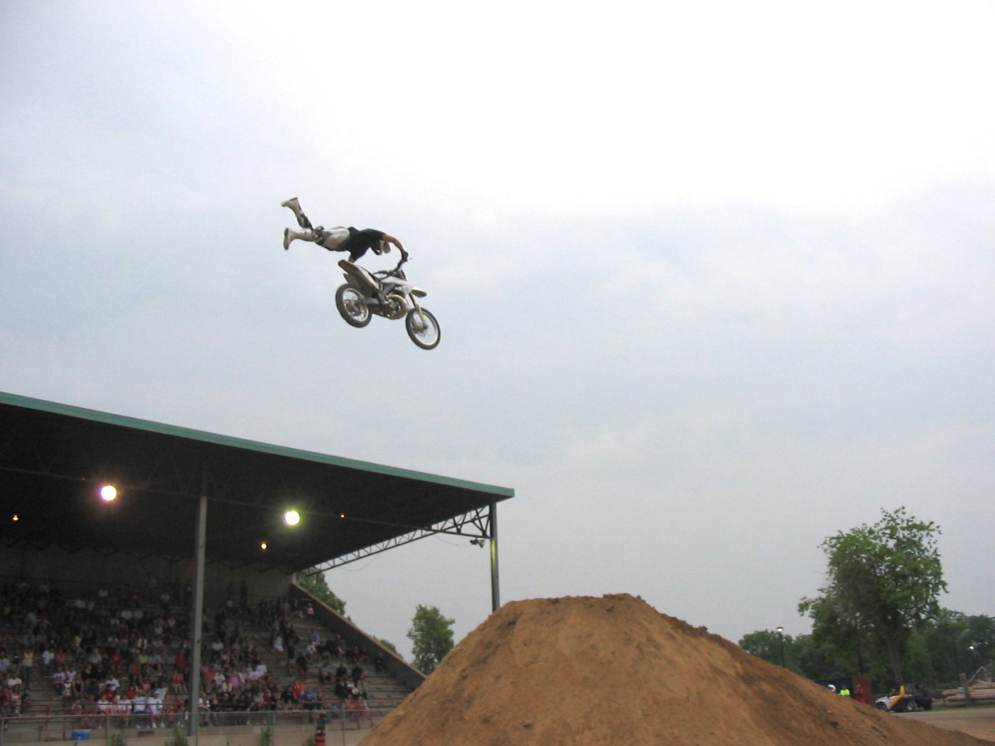 Performing a Superman Seat Grab at the Lindsay Fair in 2006.