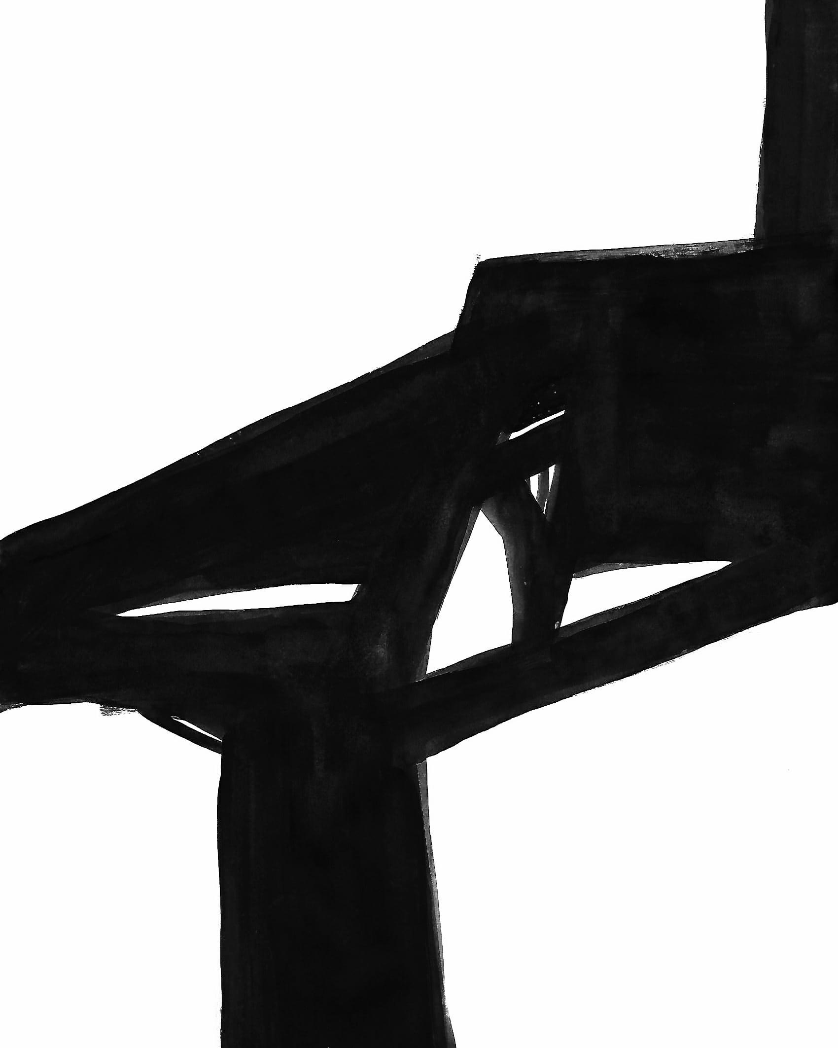 D'APRES FRANZ KLINE UNTITLED 03 2017