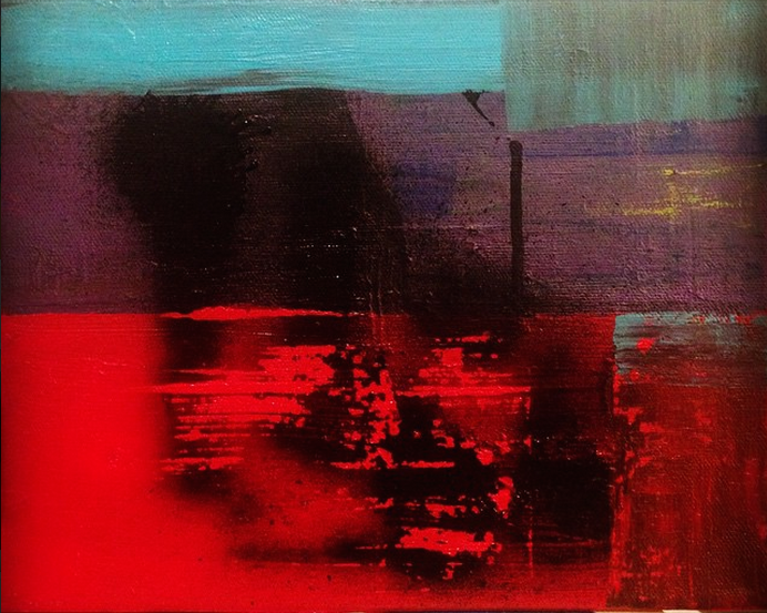 Red & Purple Untitled 2015