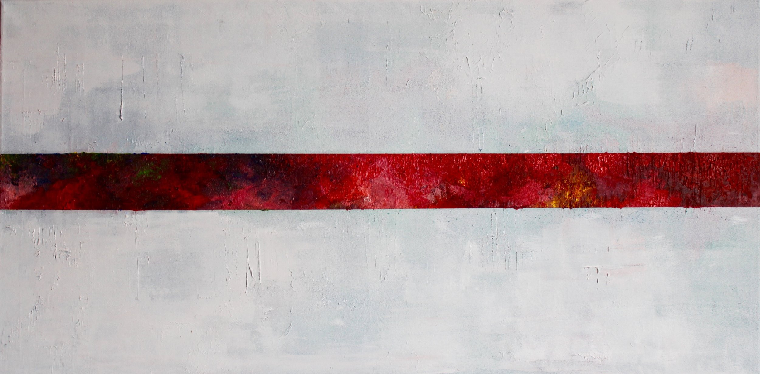 Red Strip on White Untitled 2018