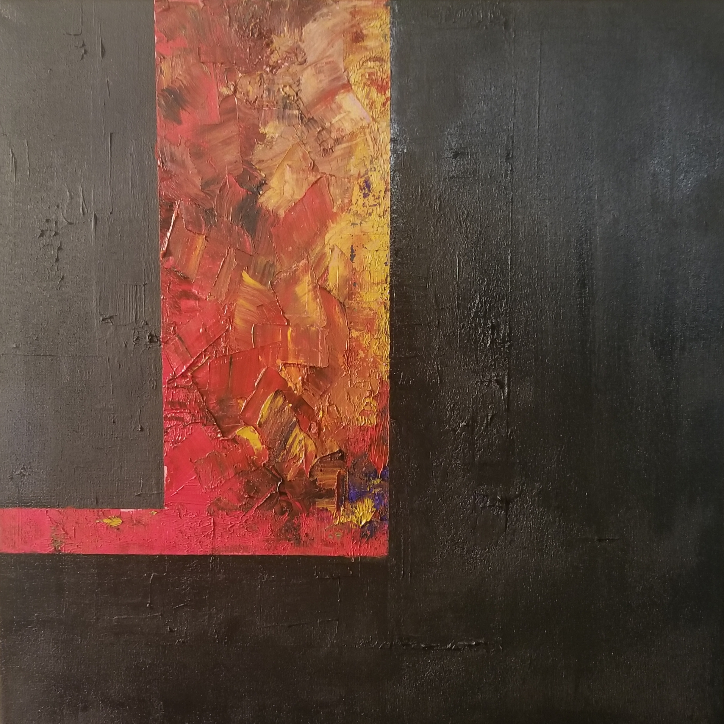 Red & Yellow on Black Untitled 2018