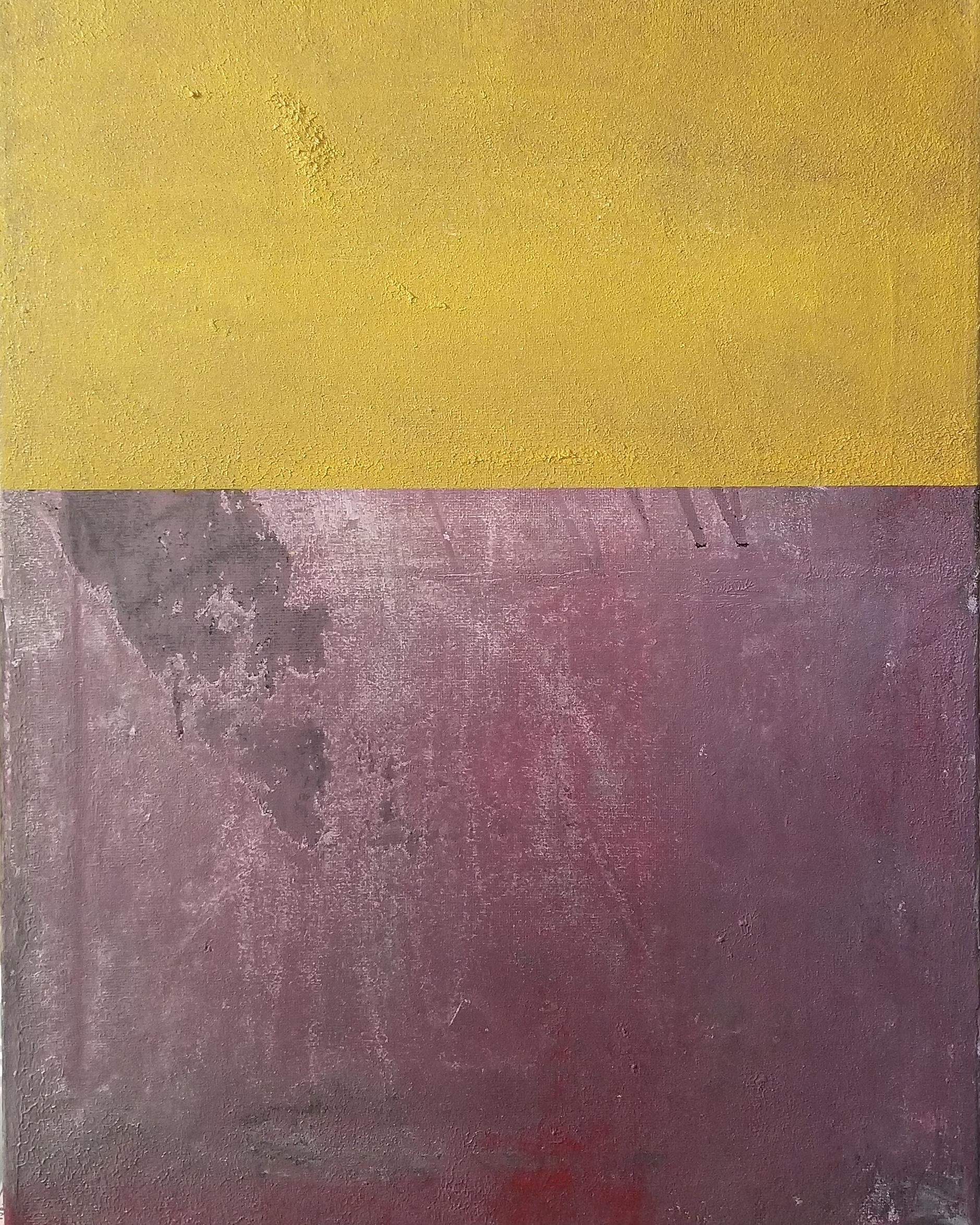 Yellow On Purple Untitled 2018