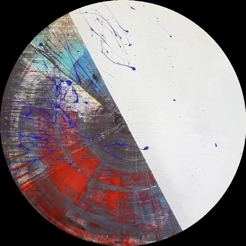 Circle Untitled on Wood, 2018