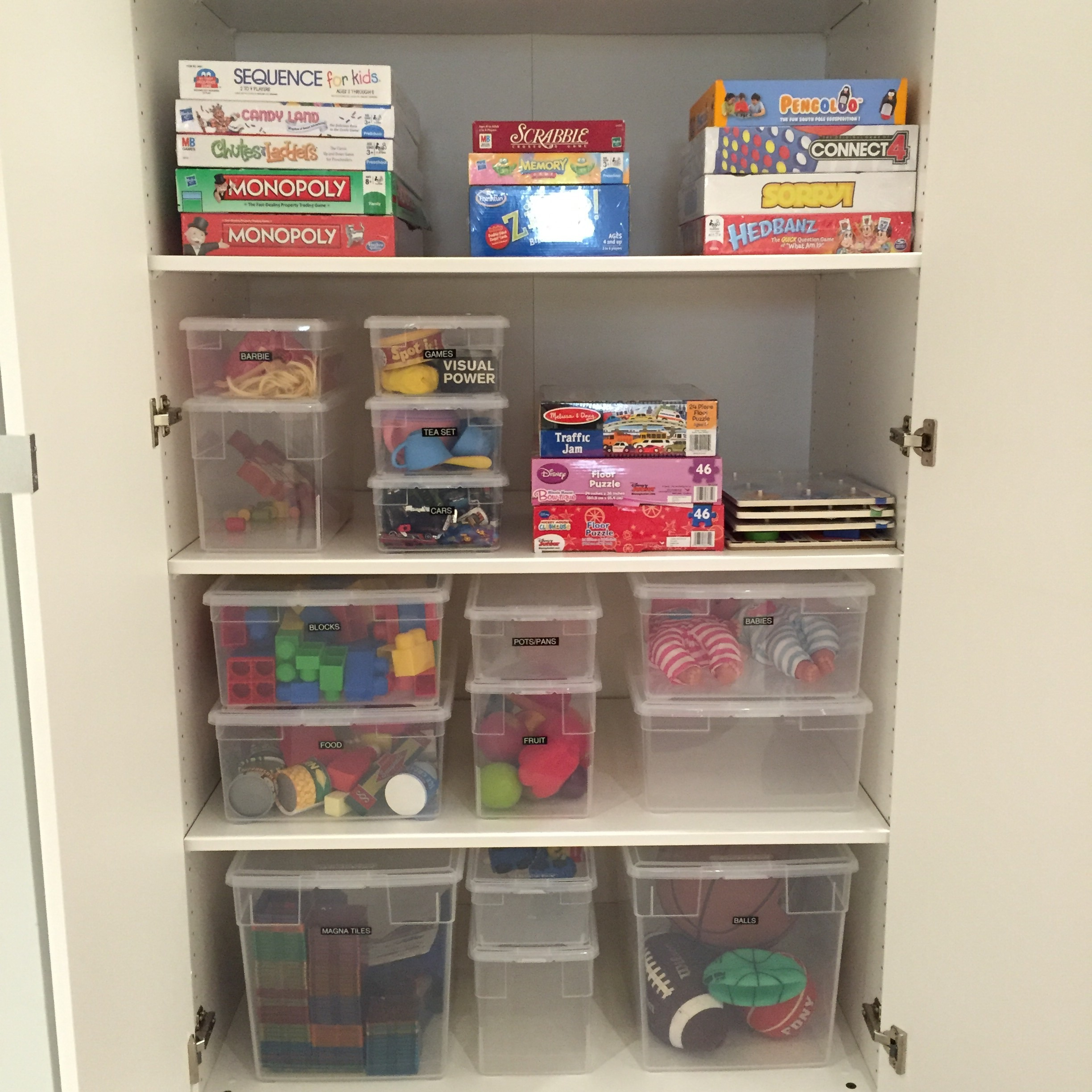Organization is key and board games are a great way to keep the older kids happy too.