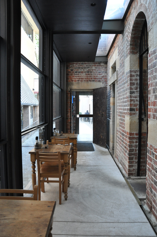 Dining in the former exercise yard area