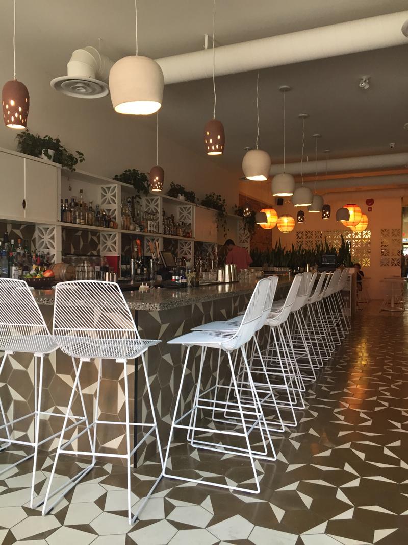 Tacofino interior featuring Bend bar stools, Gastown