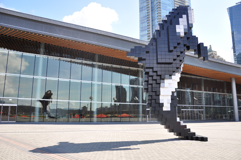 Digital Orca by Douglas Coupland at the Convention Centre