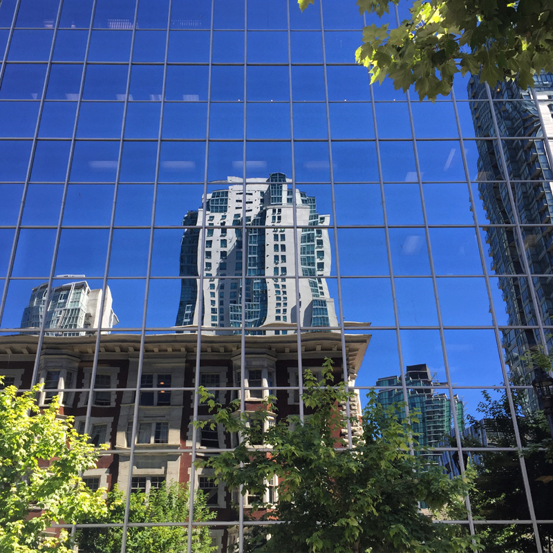 Old and new, Bute Street, downtown Vancouver
