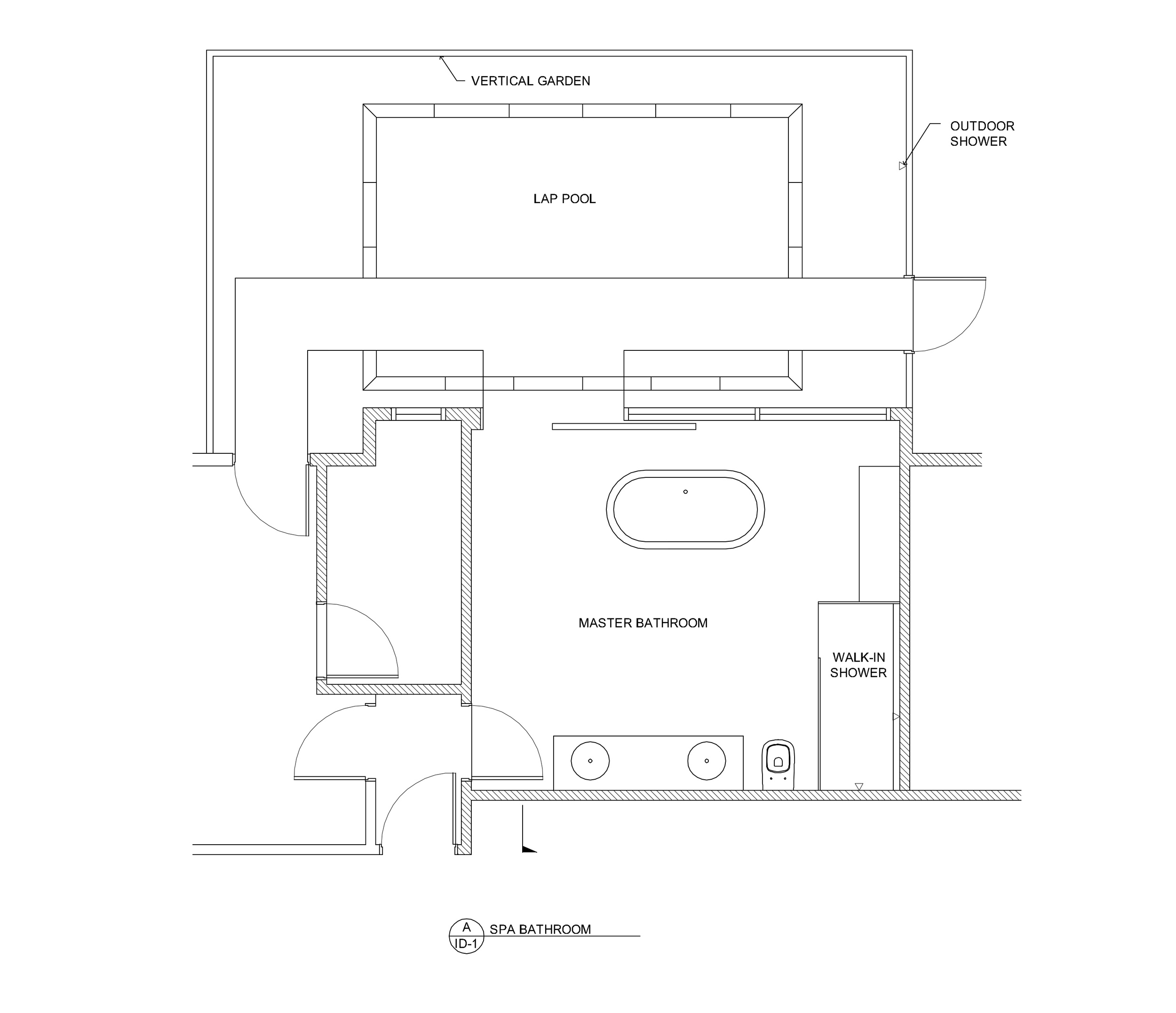 CAD plans of interior and exterior space.