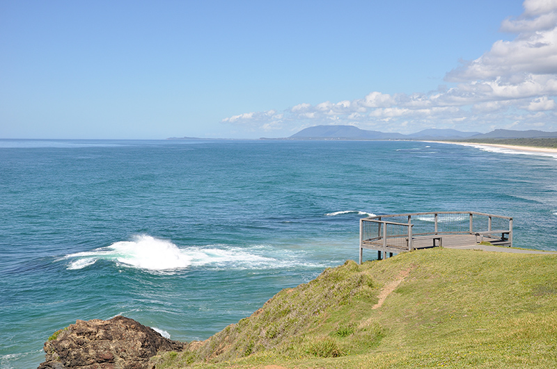 Looking south from Point Tacking Lighthouse, Port Macquarie
