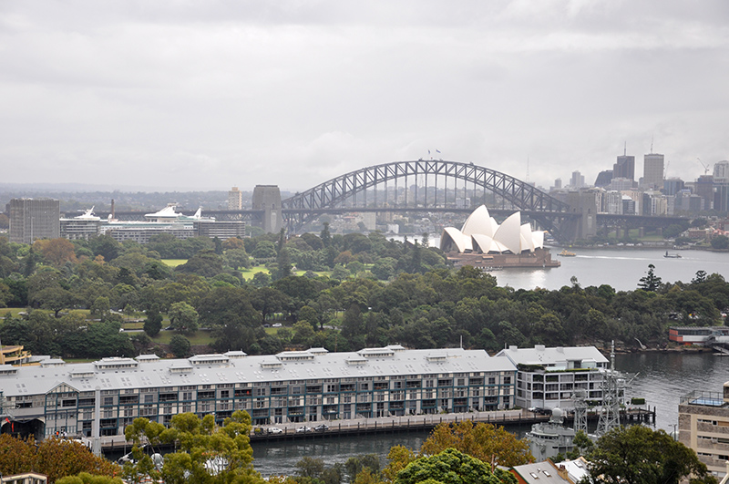 Inspirational view, including the steel structure of the Harbour Bridge.