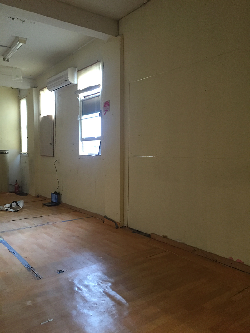 Before: Back work space -what to do with that floor? (June)