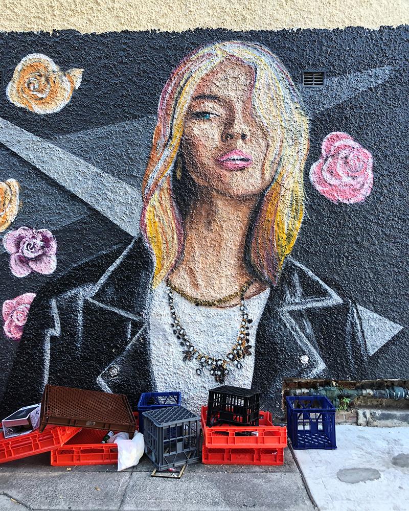 Mural in a Bondi Beach alley