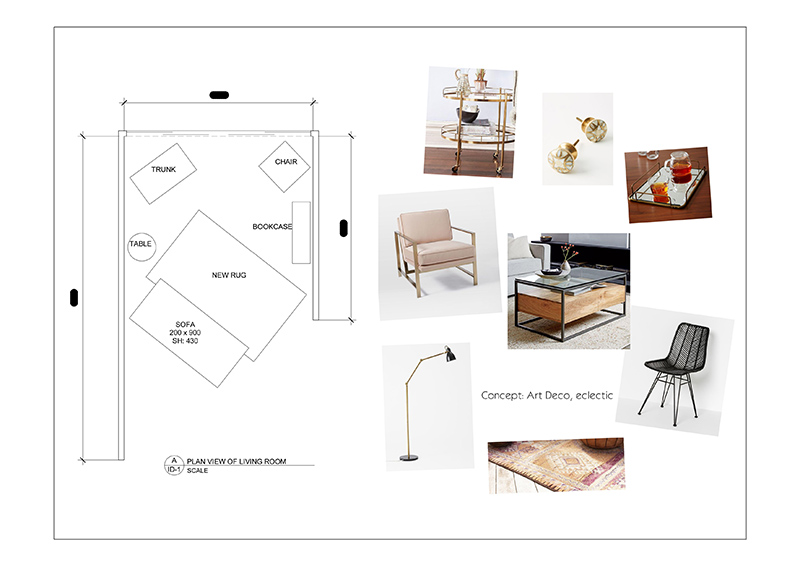 Spatial Plan and Furniture Selection