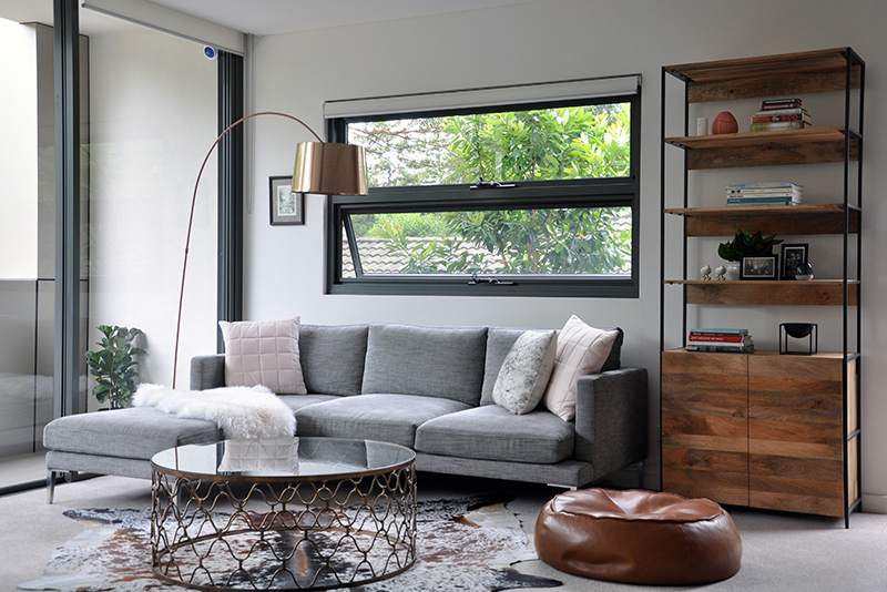 Turramurra Apt - Lounge and dining interior decoration project.