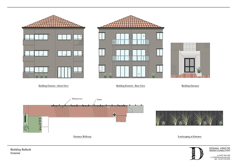 Exterior Renders                  Images drafted up in AutoCAD, rendered in PhotoShop and laid out in Indesign.