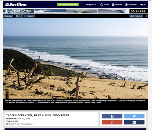That trek up the dune was   appreciated, Surfline ran one of my images.