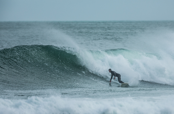 Another Piha local, Nigel Grayling braving the chill