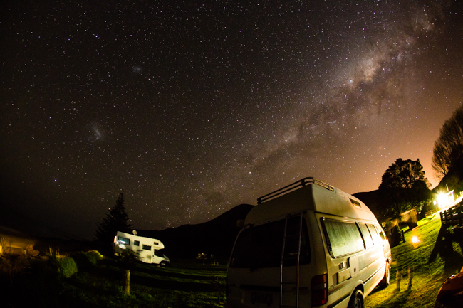 The big sky nights of Tatapouri Motorcamp