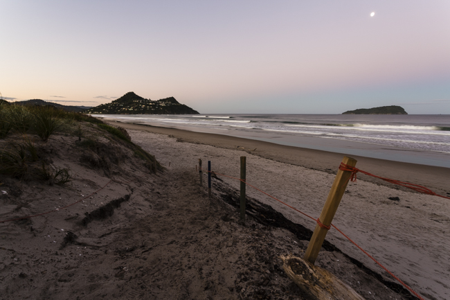 Paunui sunset and moonrise