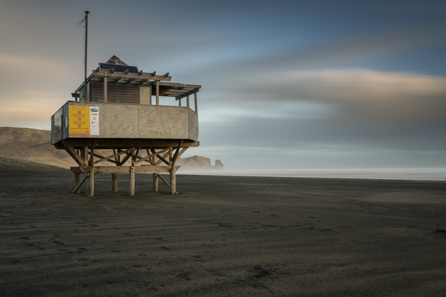 The tsunami sirens are gone and the sand is over a metre higher; another 4 minute exposure