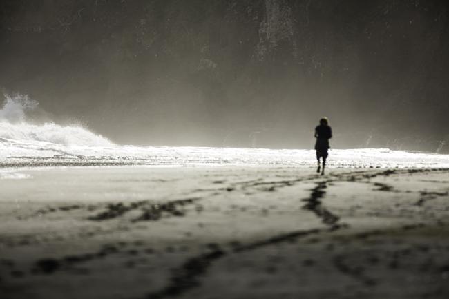 Winter and quiet walks along the beach
