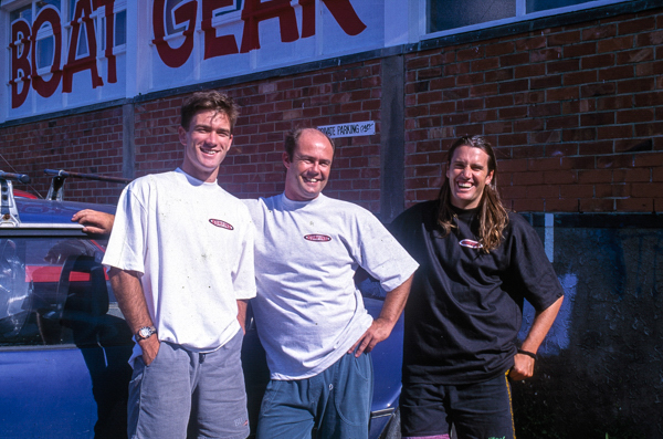 The three stooges, the NZ Surf Mag Team 1993; L to R Luke Darby, Editor Chris Berge and some dodgey hair farmer down the back...me