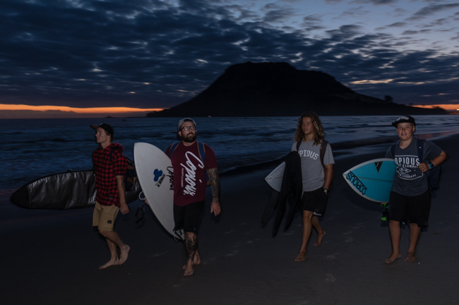 From L to R - Shaun, Cale, Lee and Harper pre dawn