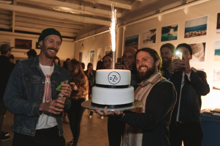 Founders and creators Jereme Aubertin and James 'Skip' Skivington quite rightly celebrating a mammoth achievement