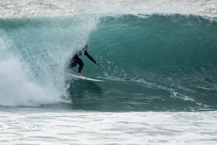 This was a very expensive surf for James Leary, prior to this he'd snapped his beloved 6'4 step up