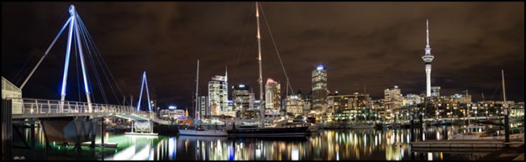 Auckland Viaduct night pano ... and International Pano Award winner 2013